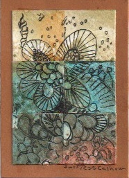 Zentangled Mosaic Inchies ATC
