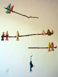 Ornaments #1 - Stuffed Birds!