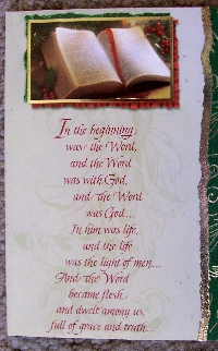 Christian Christmas Postcard - Bible