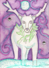 Hand Drawn/Painted ATC: Dec. Sender's Choice