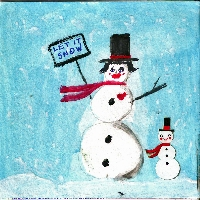 Winter theme ATC