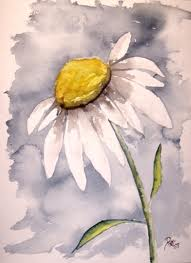 ATC Flower Series #1:  Daisies
