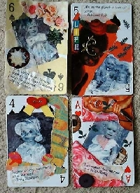 Swap-bot swap: Altered Playing Cards~~ Get the Whole deck~~ 10's