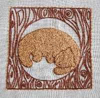Embroidery in Brown