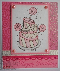 Pretty In Pink # 2 -- Handmade Greeting Card