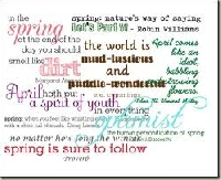 Mail art with Spring/Summer words!
