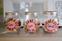 Spend - Save - Give Jars