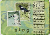 ATC with Postage Stamp(s) - RELISTED