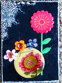 STICKER ATC #3-  Flowers