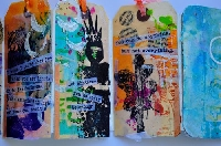 Mixed Media ATC: Insprired by Dina Wakely