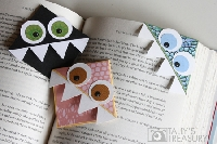 Book Monster bookmarks