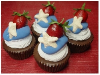 Cupcake ATC Series - #3 Red White & Blue