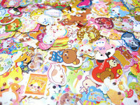 ~35 x 3 Kawaii Sticker Flake Swap~