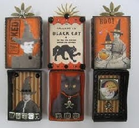 Halloween Matchbox Shrine
