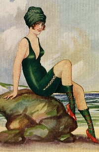 Vintage ATC: Bathing Beauty