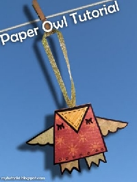 Cute Handmade Paper Owl Ornaments EDIT