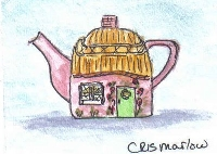Teapot for a Tea party ATC - The Teapot