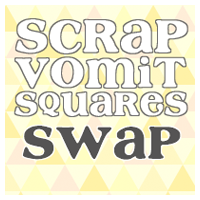Swap-bot swap: Scrap Vomit Squares Pack - International