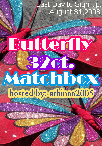 SEND UR SWAPS!!! ♥Butterflys 32 Ct.Matchbox Swap