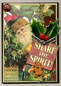 Swap-bot swap: Vintage Christmas ATC