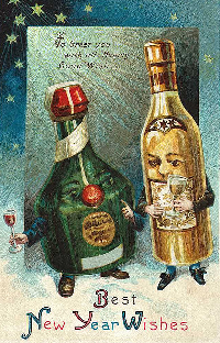 Swap-bot swap: Vintaje Happy New Year 2017 ATC