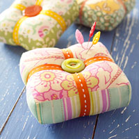 Patchwork Pincushions - Square ones!