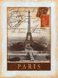 Vintage Paris Inspired ATC