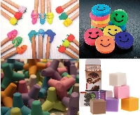 For the Kids - Cool School Erasers
