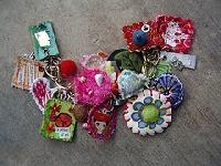 Swap-bot swap: Fabric Jewelry Charm Swap