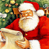 Christmas Song ATC: Santa Claus is Coming to Town