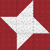 Swap-bot swap: Friendship Star Quilt Block -Int'l & beginners
