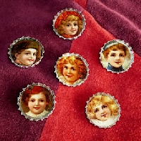 Vintage Image Bottle Cap Magnets
