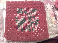 Crocheted 12 inch squares swap #3