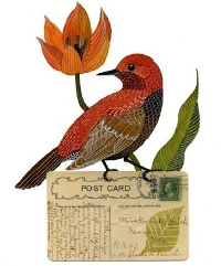 Swap-bot swap: Bird Art Postcard Swap