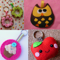 Swap-bot swap: Cute Handmade Keychain!