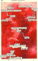 Altered Text ATC Series:  Red
