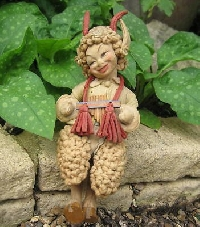 Greek or Roman God art doll