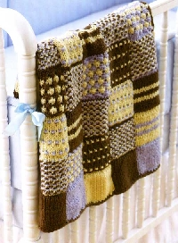 Patchwork Blanket/throw (knitted and crocheted) #4