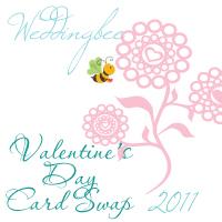 Swap-bot swap: Wedding Bee Valentine's Day 2011 Card Swap