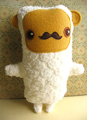 Swap-bot swap: Woodland Creature with a Mustache Softie