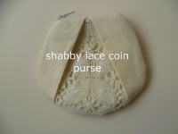 Swap-bot swap: shabby lace coin purse