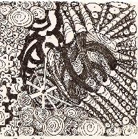 Pure Zen Zentangle 3.5 Square July