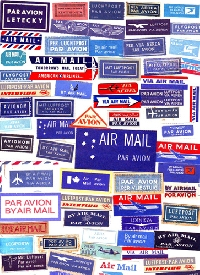 Airmail labels 6